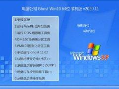 电脑公司Windows10 64位 安全装机版 2020.11